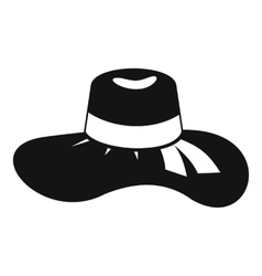 Woman hat icon simple style vector