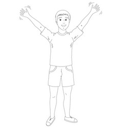 young man in shorts and a sports shirt vector image