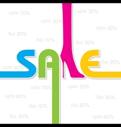 sale background and label for business promotion s vector image