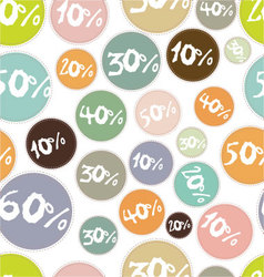 seamless background with percent symbol vector image