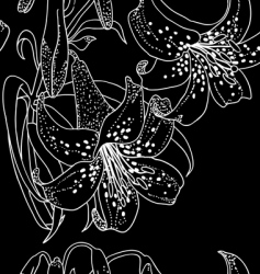 seamless wallpaper with lily flowers vector image vector image