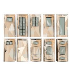 set of door vector image vector image