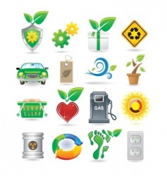 set of environment icons vector image