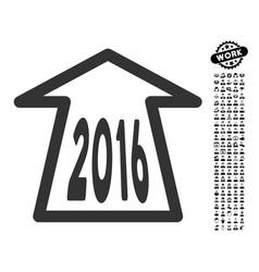 2016 ahead arrow icon with professional bonus vector image vector image