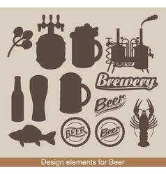 design of beer vector image vector image