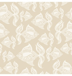 fish pattern monochrome vector image vector image