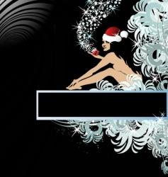 Santa woman vector image vector image