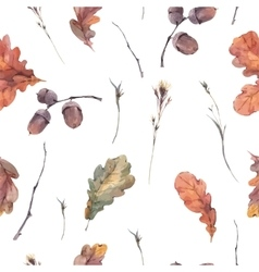 Botanical autumn seamless pattern vector image