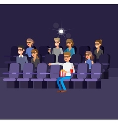 cinema movie poster template vector image vector image
