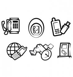communication and internet symbols vector image