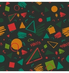 Geometric 1980s styled pattern vector image