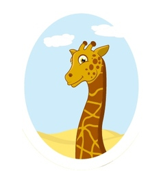 giraffe standing on circle vector image vector image