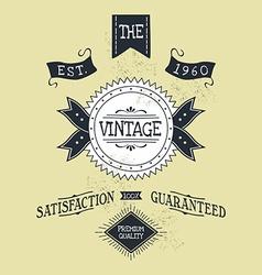 hand lettered catchword vintage tag vector image