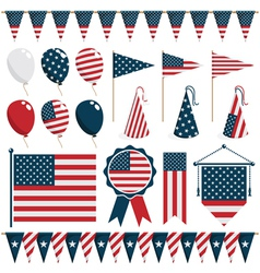 american decorations vector image vector image