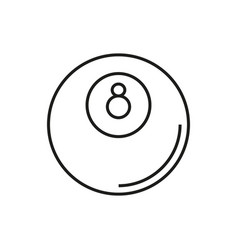 Billiard icon on white background vector
