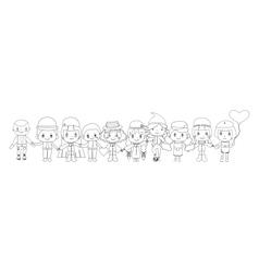 children sketches vector image