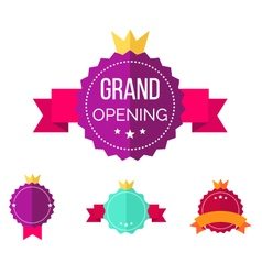 Grand opening badges vector