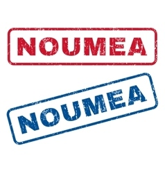 Noumea Rubber Stamps vector image vector image