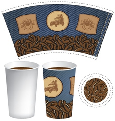 pattern cup of coffee vector image