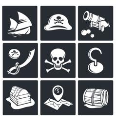 Pirates Icon set vector image
