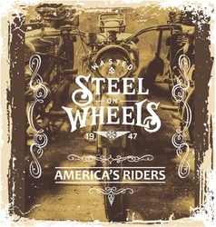 steel on wheels vector image vector image