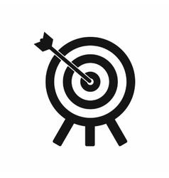 Target icon in simple style vector image vector image