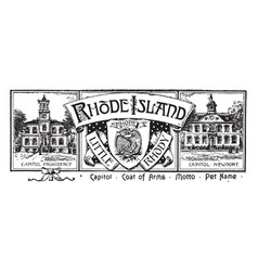 the state banner of rhode island vintage vector image