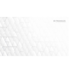 3d triangle particles technological white vector