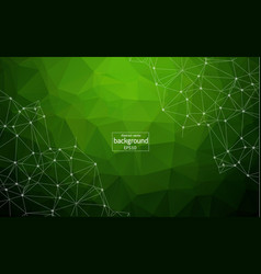 abstract polygonal space green background with vector image