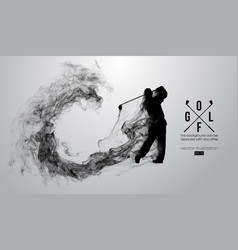 Abstract silhouette of a golf player golfer vector