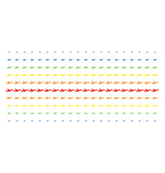 aiplane shape halftone spectrum grid vector image