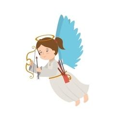 Angel arrow arch instrument icon vector