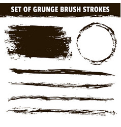 artistic grunge hand drawn black brush strokes vector image