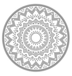 aztec mandala design with stroke - perfect vector image