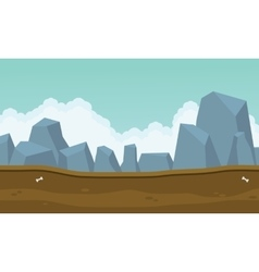 Backgrounds game many big rock vector