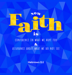 bible verse from hebrews vector image
