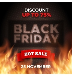 Black Friday promo banner background vector image