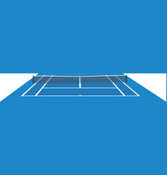 blue tennis field vector image