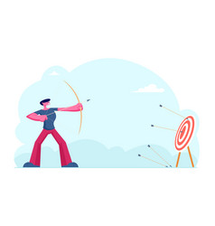 business strategy and goals achievement concept vector image