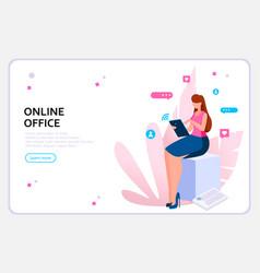 Business woman concept vector