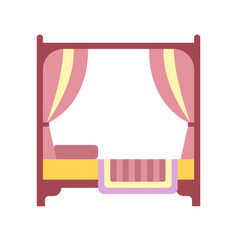 Canopy bed flat icon vector