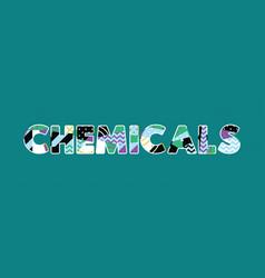 Chemicals concept word art vector