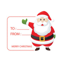 Christmas santa card image vector