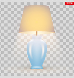 Classic table lamp with bowl and shade vector