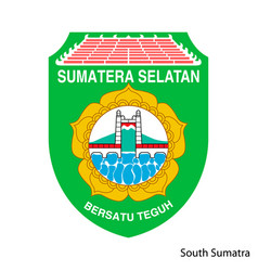 Coat arms south sumatra is a indonesian vector