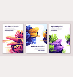 colorful tropical backgrounds covers vector image