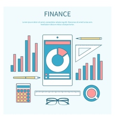 Concept of corporate finance vector image