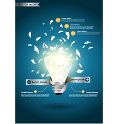 Creative Template with idea bulb explode vector