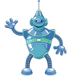 Cute cartoon robot vector