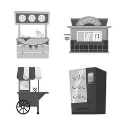 Design service and storefront symbol vector
